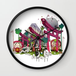 Fuji Scene Wall Clock