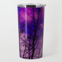 Trees Sinking in Purple Travel Mug