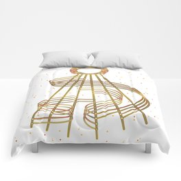 Waves of Honeyed Gold Comforters