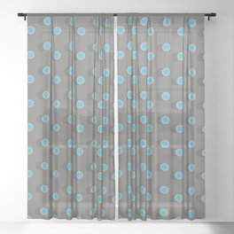 3D Dotted Pattern II Sheer Curtain