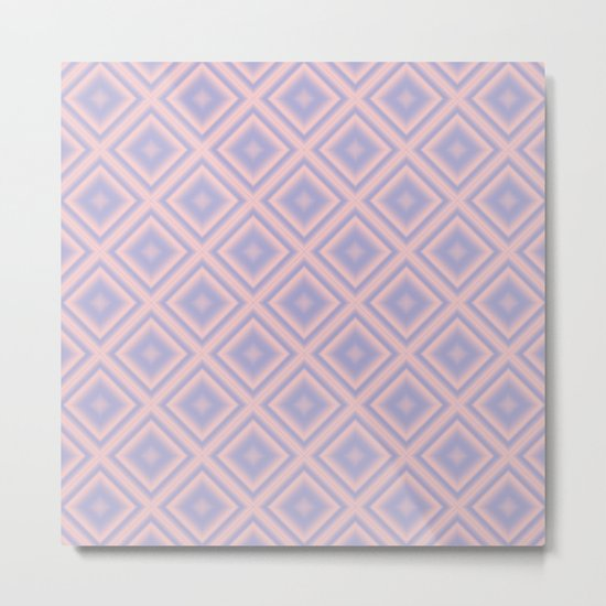 Starry Tiles in Rose Quartz and Serenity Metal Print