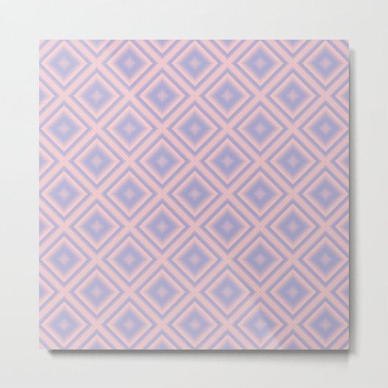 Starry Tiles in Rose Quartz and Serenity Metal Print