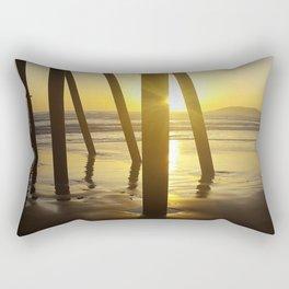 Pismo Beach Pier in the Sunset Rectangular Pillow