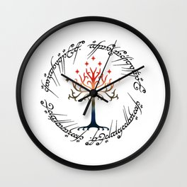 Tree The Ring Space Wall Clock