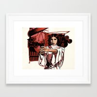 princess leia Framed Art Prints featuring Leia by FriedPies