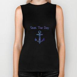 Seas The Day Sailing Big Boat Anchor Biker Tank