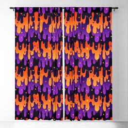 Halloween Slime Blackout Curtain