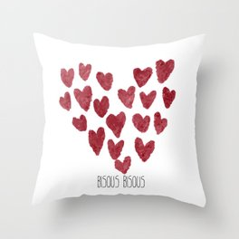 Bisous Bisous... Throw Pillow