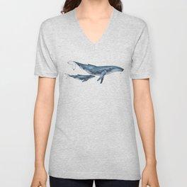 Whale & whale calf Unisex V-Neck
