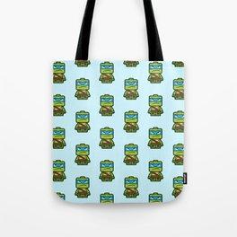 Chibi Leonardo Ninja Turtle Tote Bag