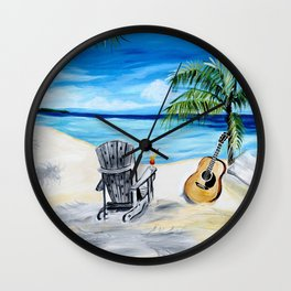 Beach Time with Martin Wall Clock