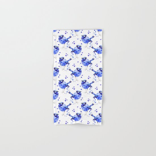 Little blue bird Hand & Bath Towel