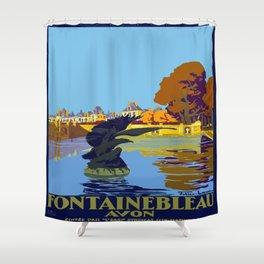 Vintage poster - Fontainebleau Shower Curtain