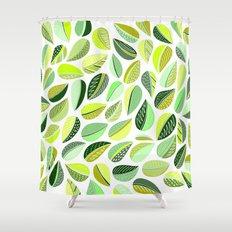 Leaf Green Shower Curtain