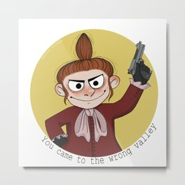 Little My With Gun Metal Print