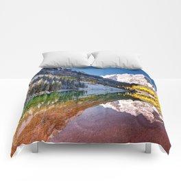 OLena Art Maroon Bells And Maroon Lake Near Aspen Colordo Comforters