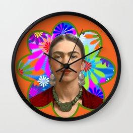 FRIDA KAHLO SEPIA Wall Clock