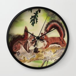 """I'm Nuts For You"" Wall Clock"