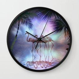 Sunset Stroll Wall Clock