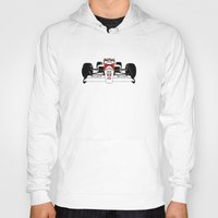 senna Hoodies featuring Senna MP4/4 by DasWauto
