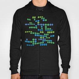Dottywave - Green Blue wave dots pattern Hoody