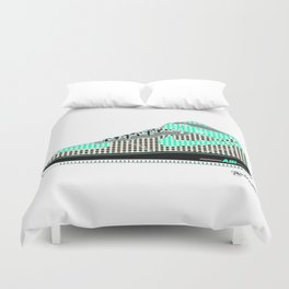 Airforce 1 Air Pop Art Sneakers 7th Edition Duvet Cover