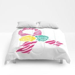 Endometriosis Ribbon 4 Comforters