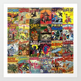 Comic Book Collage II Art Print