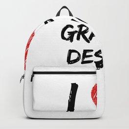 I Love Graphic Design Backpack