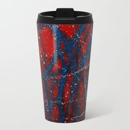 Red, White and Blue Spatter Travel Mug