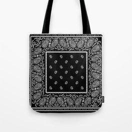 Classic Black Bandana Tote Bag