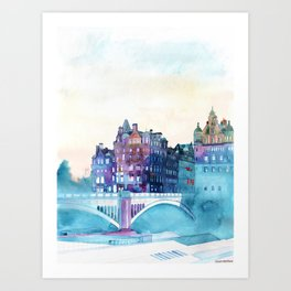 Winter in Edinburgh Art Print
