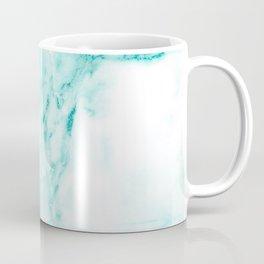 Teal Mermaid Glitter Marble Coffee Mug