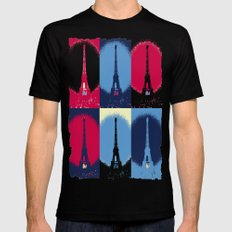Eiffel Tower MEDIUM Mens Fitted Tee Black