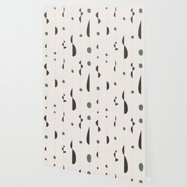 midcentury modern abstract pattern Wallpaper