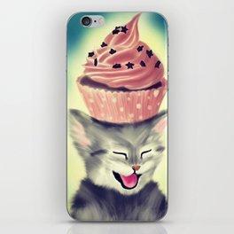 Cupcake Kitten iPhone Skin