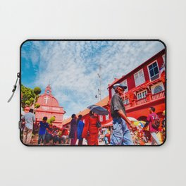 Man walks by Christ Church Melaka Laptop Sleeve