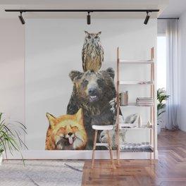 Woodland Animal Friends Wall Mural