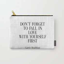 Fashion Quote Fashion Print Fashionista Girl Bathroom Decor Art Carrie Bradshaw Quote Sex and City Carry-All Pouch