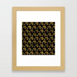 Irish Shamrock clover  pattern Framed Art Print