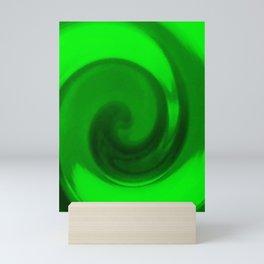 Green tie dye Mini Art Print