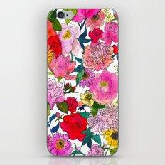 Peonies & Roses iPhone & iPod Skin