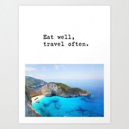 Eat well Island Art Print