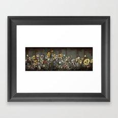 Zombie Parade Framed Art Print
