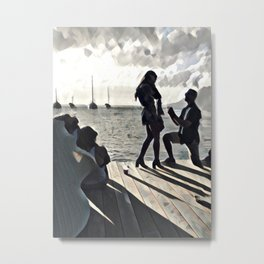 Proposal in Paradise Metal Print