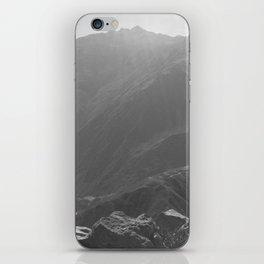 Top of the Rockies B&W iPhone Skin