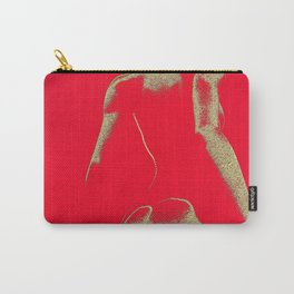 Golden Seated Goddess RED version Carry-All Pouch