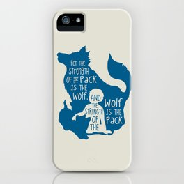 Strength of the Pack - Wolf and Child iPhone Case