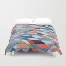 Triangle Pattern No. 7 Diagonals Duvet Cover