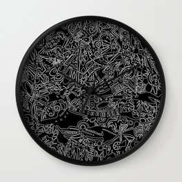 These Lines Draw Me Wall Clock